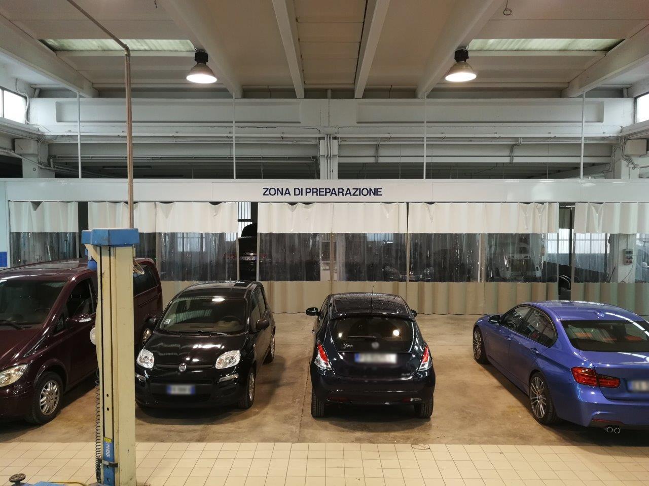 Area di preparazione auto